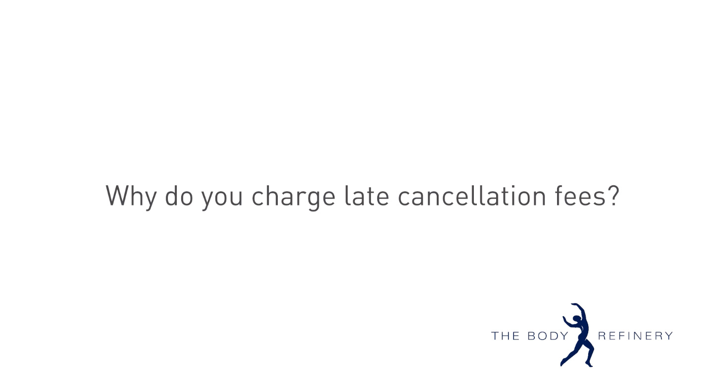FAQ Why di charge late cancellation fees?