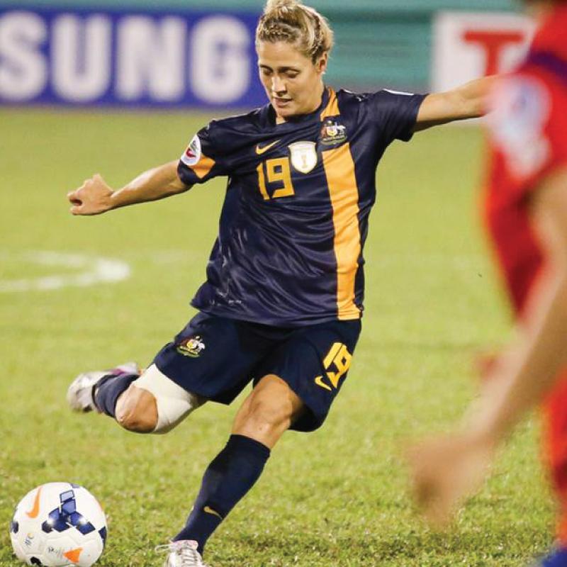 Katrina Gorry Matilda soccer player The Body Refinery's Sponsored Athletes